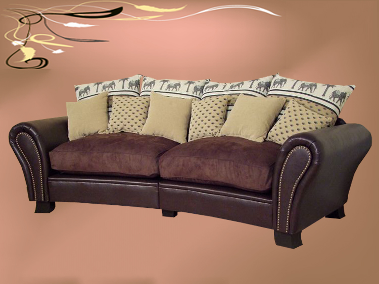 big sofa chandra im kolonialstil livingcomfort. Black Bedroom Furniture Sets. Home Design Ideas